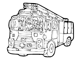 Small Picture Free Printable Fire Truck Coloring Pages For Kids