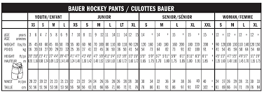 32 Systematic Hockey Pant Sizing Chart