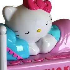 Hello Kitty Digital Am Fm Clock Radio With Night Light Hello Kitty Sleeping Kitty Alarm Clock Radio With Night
