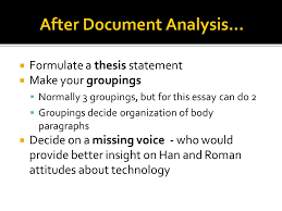 the dbq essay ppt video online  14 after document analysis