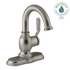 kohler single hole bathroom faucet. KOHLER Worth Single Hole 1-Handle Bathroom Faucet In Vibrant Brushed Nickel Kohler L