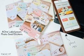 aone labelyasan photo stickers seal review the number co the stickers come in 2 versions high resolution and diary planner i use the diary planner version exclusively because they come in a variety of sizes and