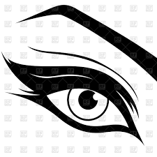 eye silhouette with make up vector image vector ilration of people natareal to zoom