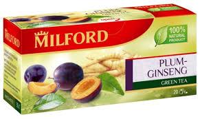 <b>Чай зеленый Milford</b> Plum-ginseng в пакетиках — купить по ...
