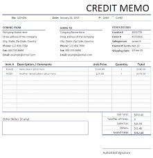 Credit Memorandum Memo Invoice Sales Invoices Invoice