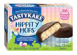 hippity hops are perfect for your easter basket these dark chocolate coated cakes are filled to the brim with a sweet coconut filling creating a treat