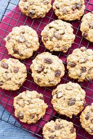 easy gluten free vegan oatmeal raisin cookies v gf df an