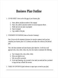 outline in word business plan sample outline