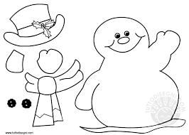 Pupazzo Di Neve Da Colorare E Ritagliare Tuttodisegnicom