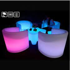 led plastic furniture