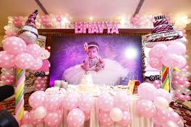 first birthday decoration ideas at home for girl luxury bhavya s