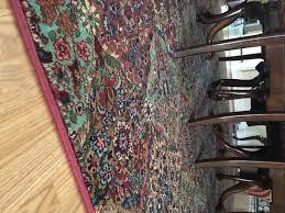 another view of karastan s axminster broadloom multicolor panel kirman custom made bound rug via a