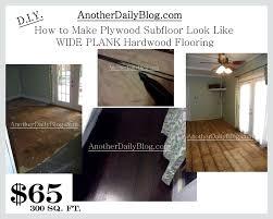 diy how to make plywood suloor look like wide plank hardwood flooring