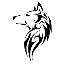 tribal wolf howling silhouette. Tribal Wolf Silhouette Vinyl Sticker Car Decal Inside Howling