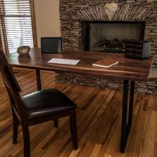 Walnut Wood Desk, Modern Walnut Desk