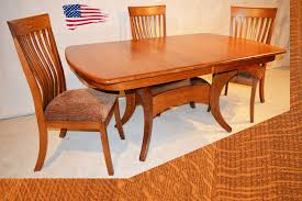 dining room table with leaf. Amish Dining Table And Suitable Solid Oak Chairs Farmhouse Room With Leaf N