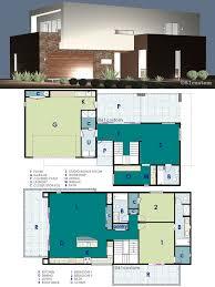 ultra modern live work house plan