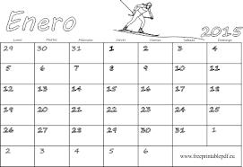 Calendarios Para Imprimir 2015 Enero 2015 Calendario En Blanco Para Imprimir Y Colorear