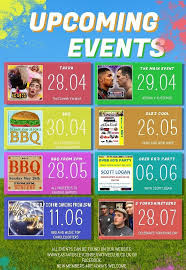 Upcoming Events Flyer Upcoming Events Flyer Template East Ardsley Conservative Club
