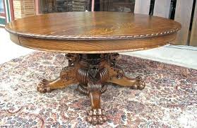 antique claw foot table antique oak pedestal table dining table antique oak table with lion and