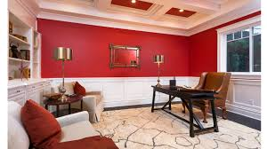 red home office. the home office takes a departure from more public rooms in with red h