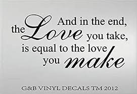 The Beatles Quotes Mesmerizing Amazon THE BEATLES ABBEY ROAD LOVE VINYL WALL DECAL WALL
