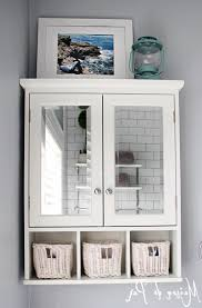bathroom over the toilet storage ideas. Piquant Mirrored Door Over Toilet Bathroom Storage Cabinet Ideas With Floating The E