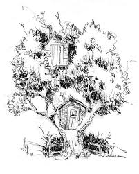 Small Picture One Tree Two Treehouse Coloring Page Color Luna