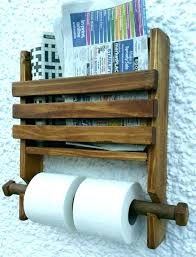 wall mounted book holder holder wall fin holder wall rustic wooden wall double toilet roll holder and book natural wooden and cook book
