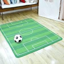 football field area rug large football field area rug kids cartoon soccer playing children carpet modern football field area rug
