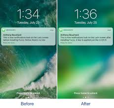 ios 10 changed how ining notifications looked on the lock screen by doing away with the background blur that appeared behind banners and adding those