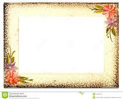Vintage Aged Floral Frame Stock Photo Image Of Vintage