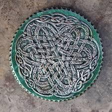 celtic knot garden decor irish ribbon