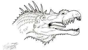 Small Picture Intro image for coloring book Spinosaurus by QuickSilverArtist