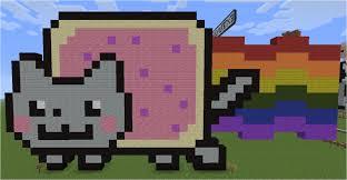 Cat Pixel Art Minecraft Design Templates