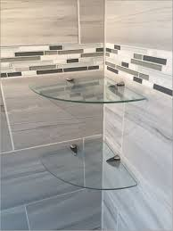 Bathroom Glass Corner Shelves Shower Delectable Glass Corner Shower Shelves Glass Designs