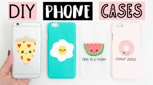 diy phone cases four easy cute ideas