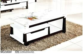 modern living room furniture marble top tea table coffee black and white with drawer set