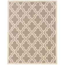 linon home decor silhouette quatrefoil grey and white 5 ft x 7 ft indoor