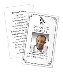 Funeral Prayer Cards Praying Hands Prayer Card Template Funeral Card