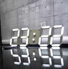 remote control modern design large led digital wall clock big