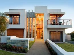 view modern house lights. Modern House Facade With Front View Lights