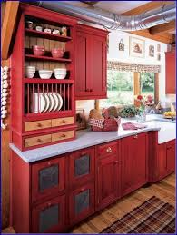 rustic red kitchen decoration popular cabinet paint colors country cabinets
