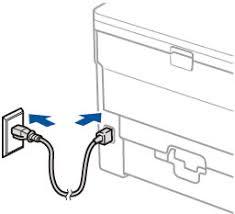 <b>Подключение кабеля питания</b> | Brother