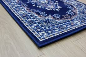 wonderful navy runner rug with blue designs