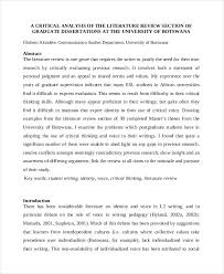 Dissertation Literature Review   Guide for Graduate Students  Dissertation  Writing Help JFC CZ as