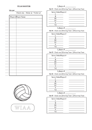 Roster Sheet Template Top Volleyball Roster Sheets Free To Download In Pdf Format