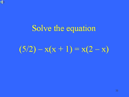 solving equations one step solving