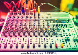 audio jack wires connected audio mixer stock photo 260758481 colorful details of music mixer buttons on equipment in audio recording studio or nightclub