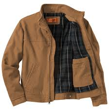men s washed duck cloth flannel lined work jacket